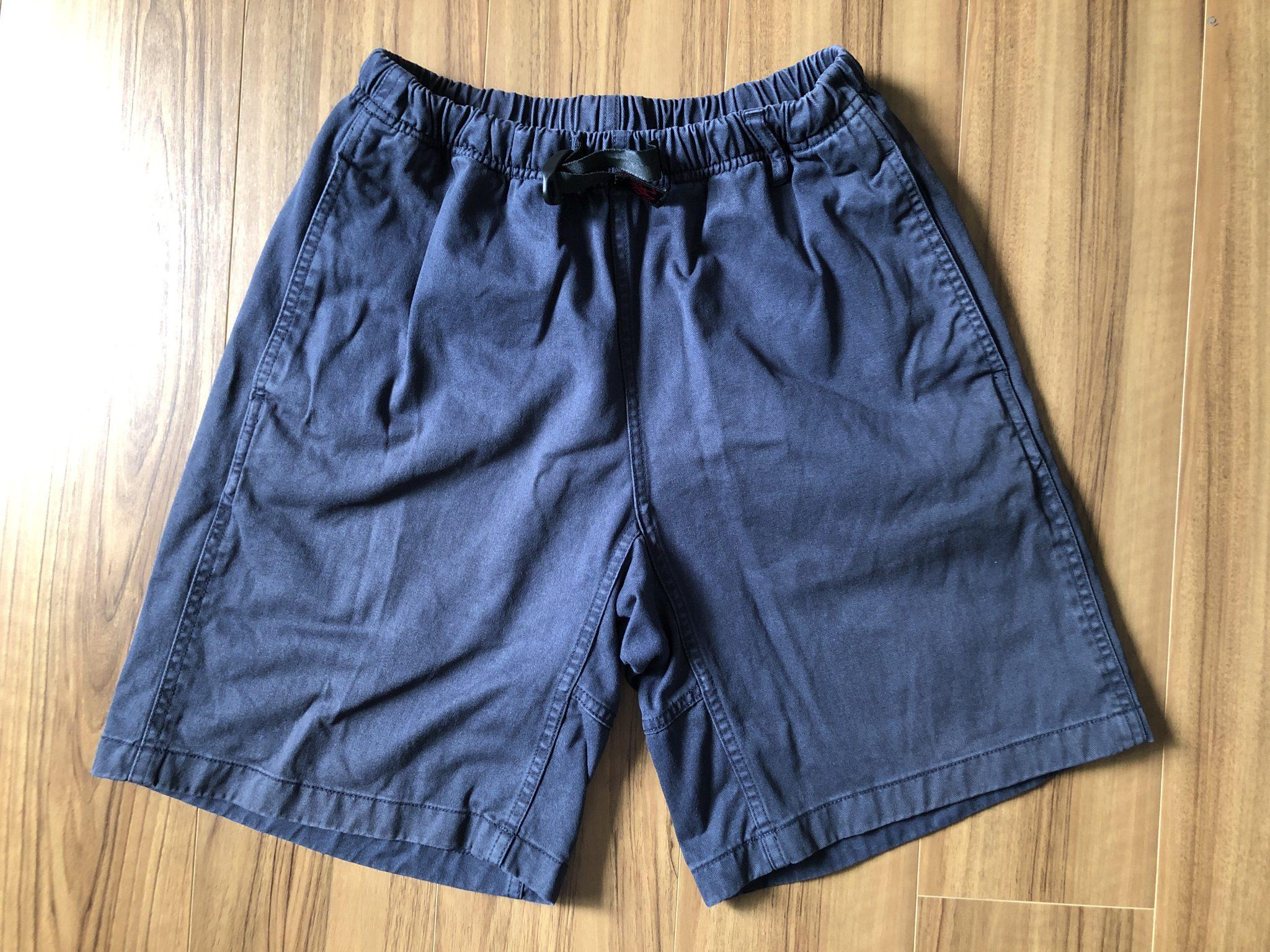 グラミチ Gショーツ Gramicci G-Shorts エイジング 経年変化 3年 ダブルネイビー ネイビー