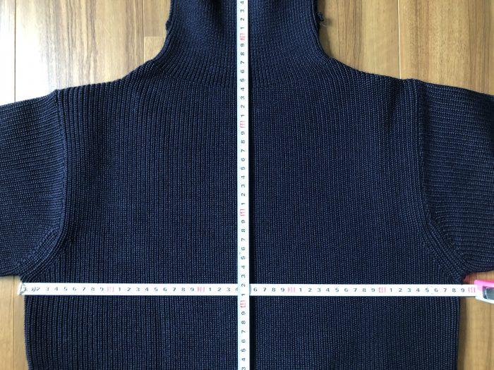 アンデルセンアンデルセン(ANDERSEN-ANDERSEN)セイラー(7G)タートルネックセーター ネイビーブルー S サイズ 着丈 身幅