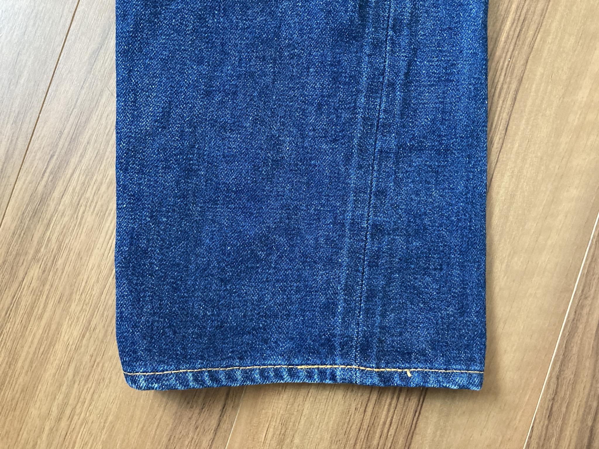 リゾルト Resolute 710 経年変化 エイジング 2075時間 洗濯 裾 スソ チェーンステッチ
