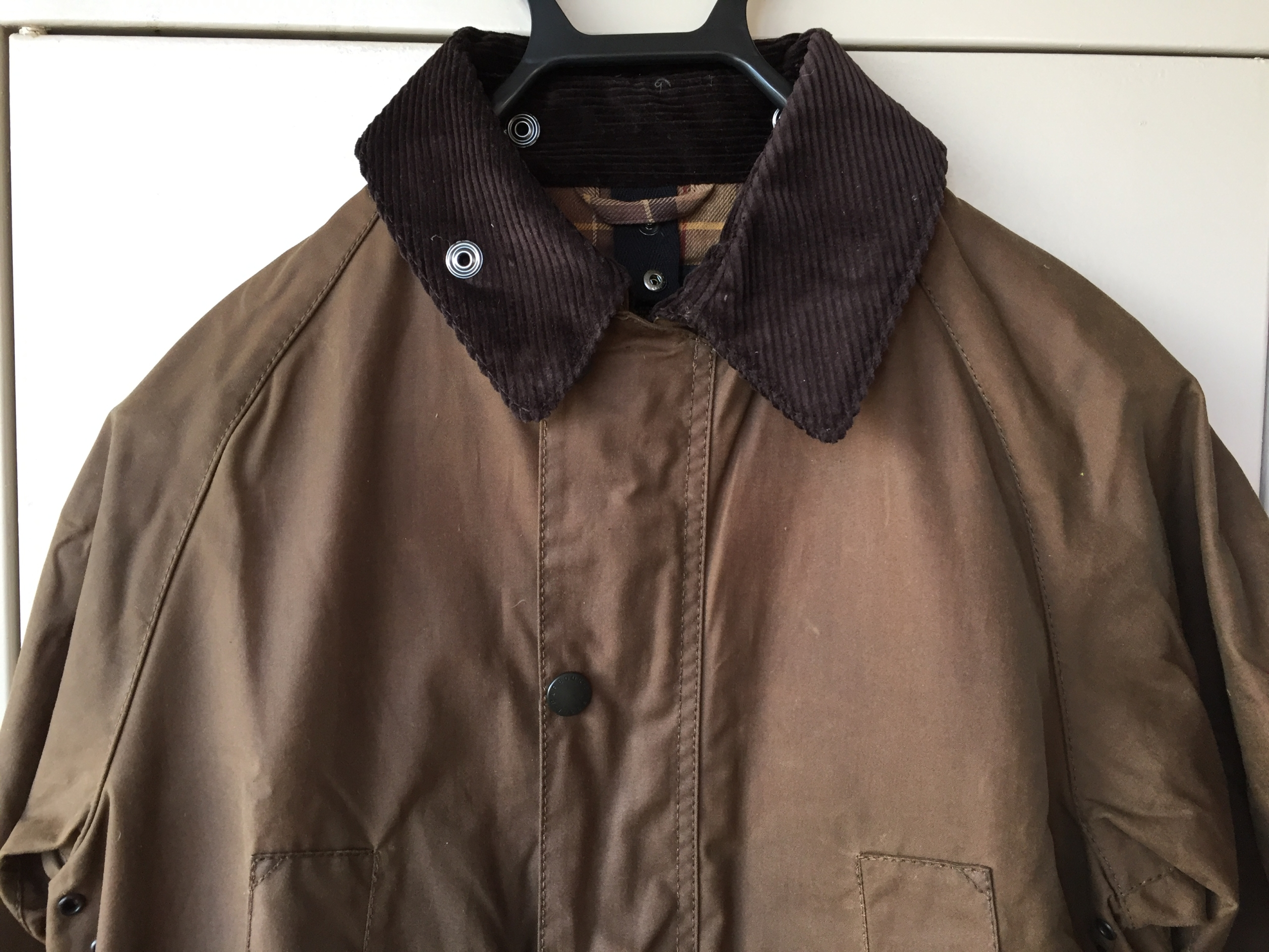 バブアー ビデイル BARBOUR BEDALE SL バーク Bark ブラウン 購入当初 襟元