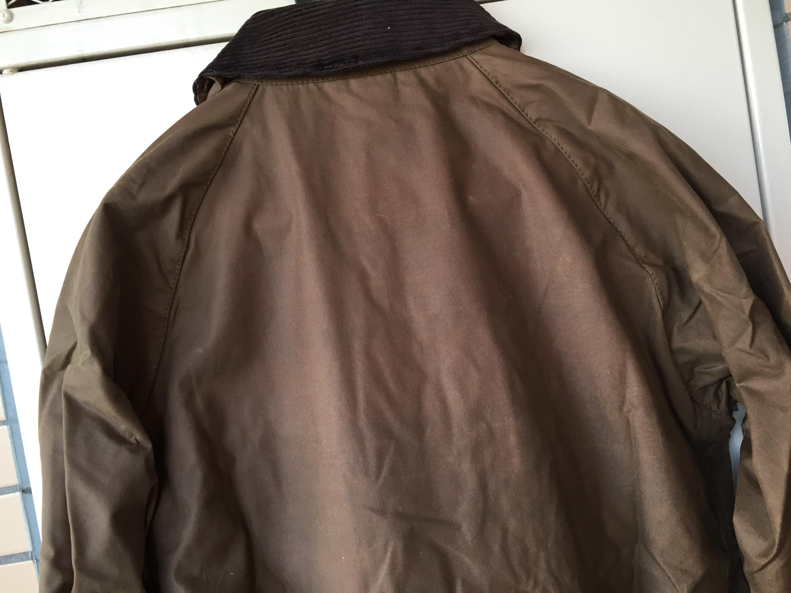 バブアー ビデイル BARBOUR BEDALE SL バーク Bark ブラウン 購入当初 背中