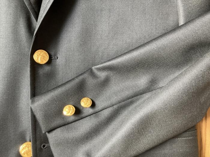 ブルックスブラザーズ Brooks Brothers ウール ファインサージ シングル段返り3釦 ブレザー ボタン