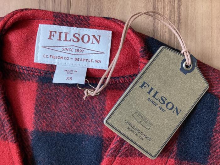 購入当初 フィルソン マッキーノウールベスト Filson サイズ タグ