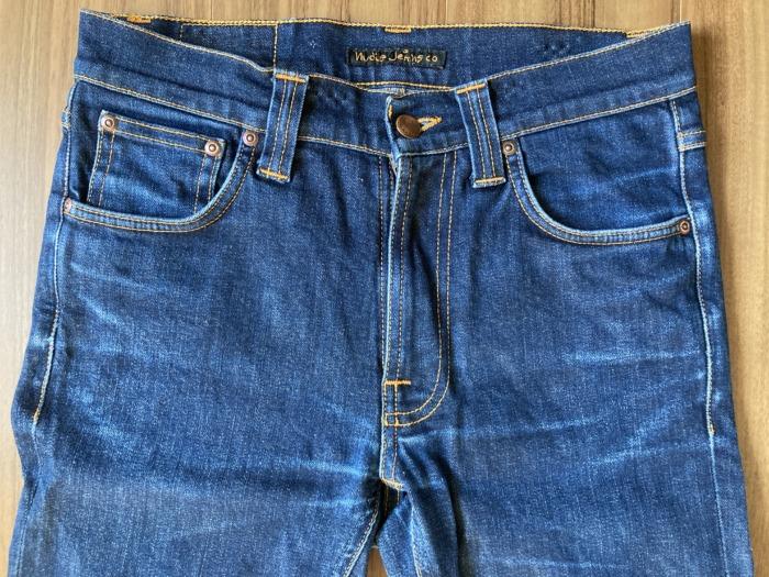 ヌーディジーンズ リーンディーン(NudieJeans LeanDean)のエイジングの様子 ヒゲ