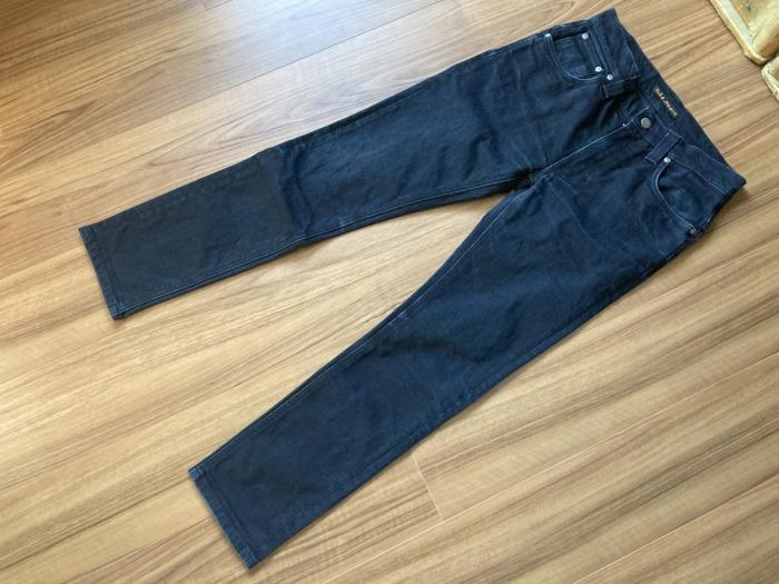ヌーディジーンズ シンフィン ブラックデニム(NudieJeans ThinFinn BlackRing)のエイジングの様子 全体観