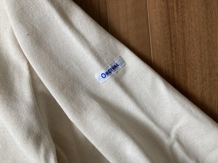 オーシバル Orcival コットンロード バスクシャツ 購入当初 ブランドロゴ