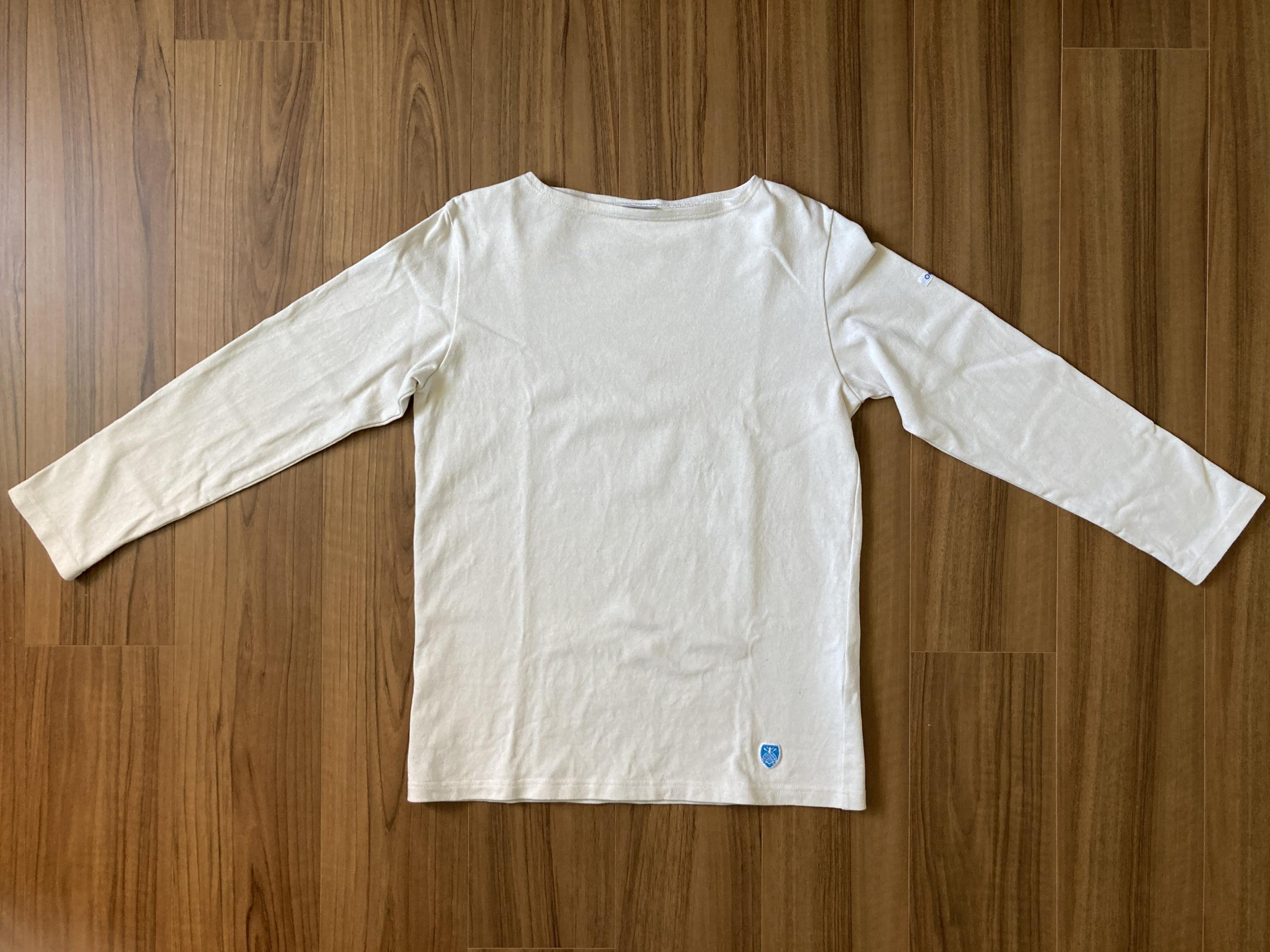 オーシバル コットンロード Orcival バスクシャツ 4回洗濯後 襟 全体観
