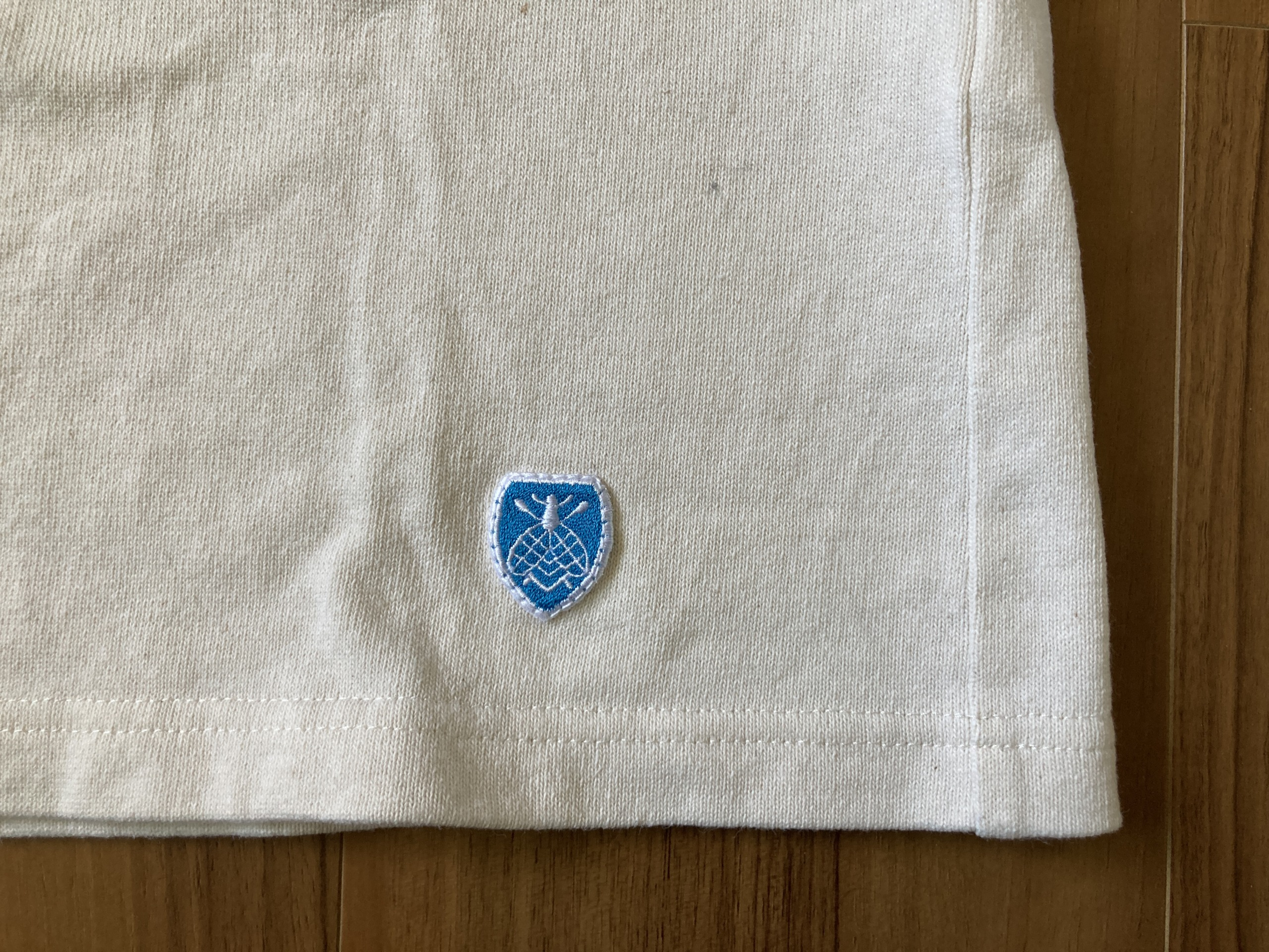 オーシバル コットンロード Orcival バスクシャツ 4回洗濯後 エンブレム