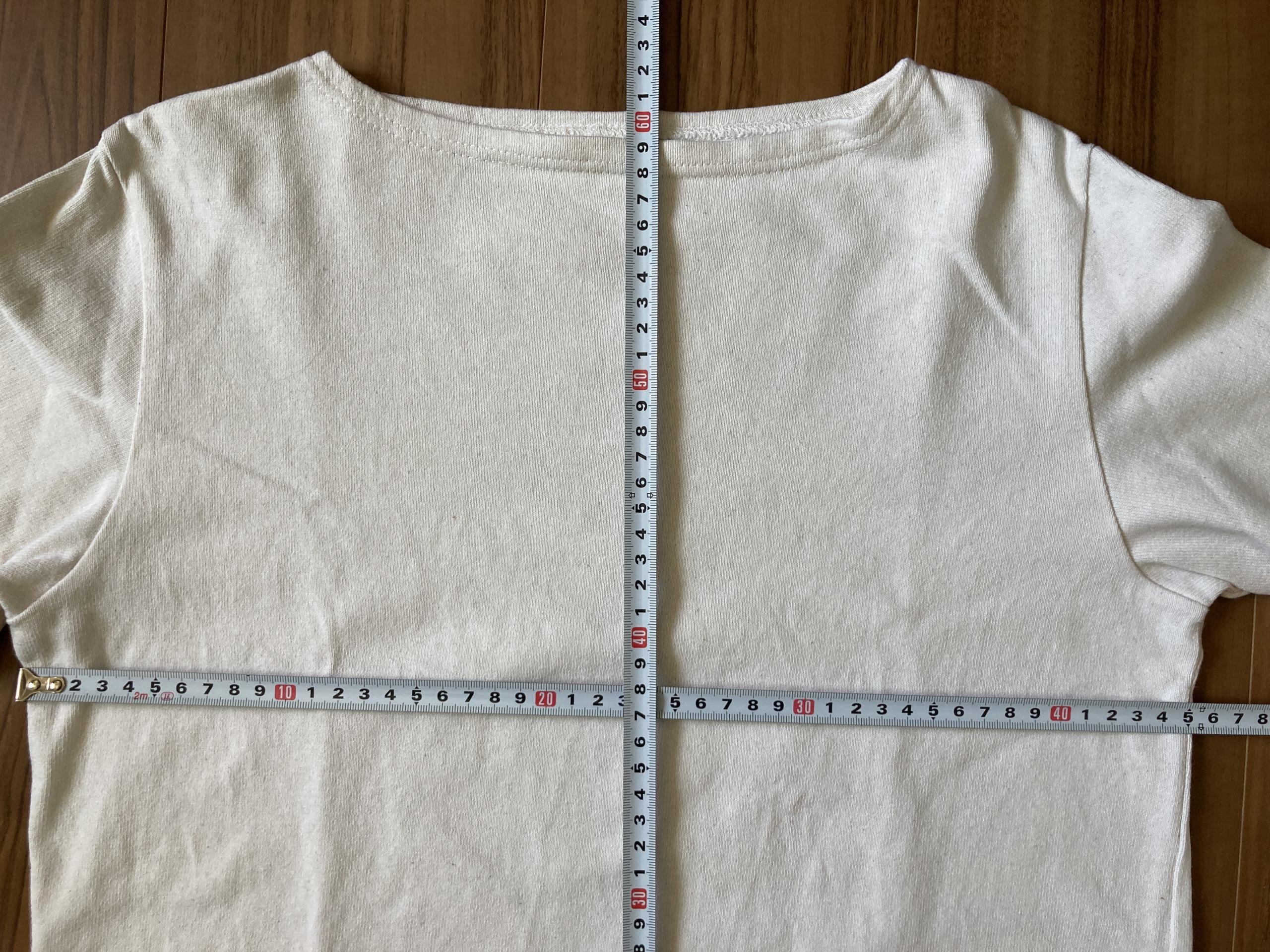 オーシバル コットンロード Orcival バスクシャツ 4回洗濯後 サイズ 縮み