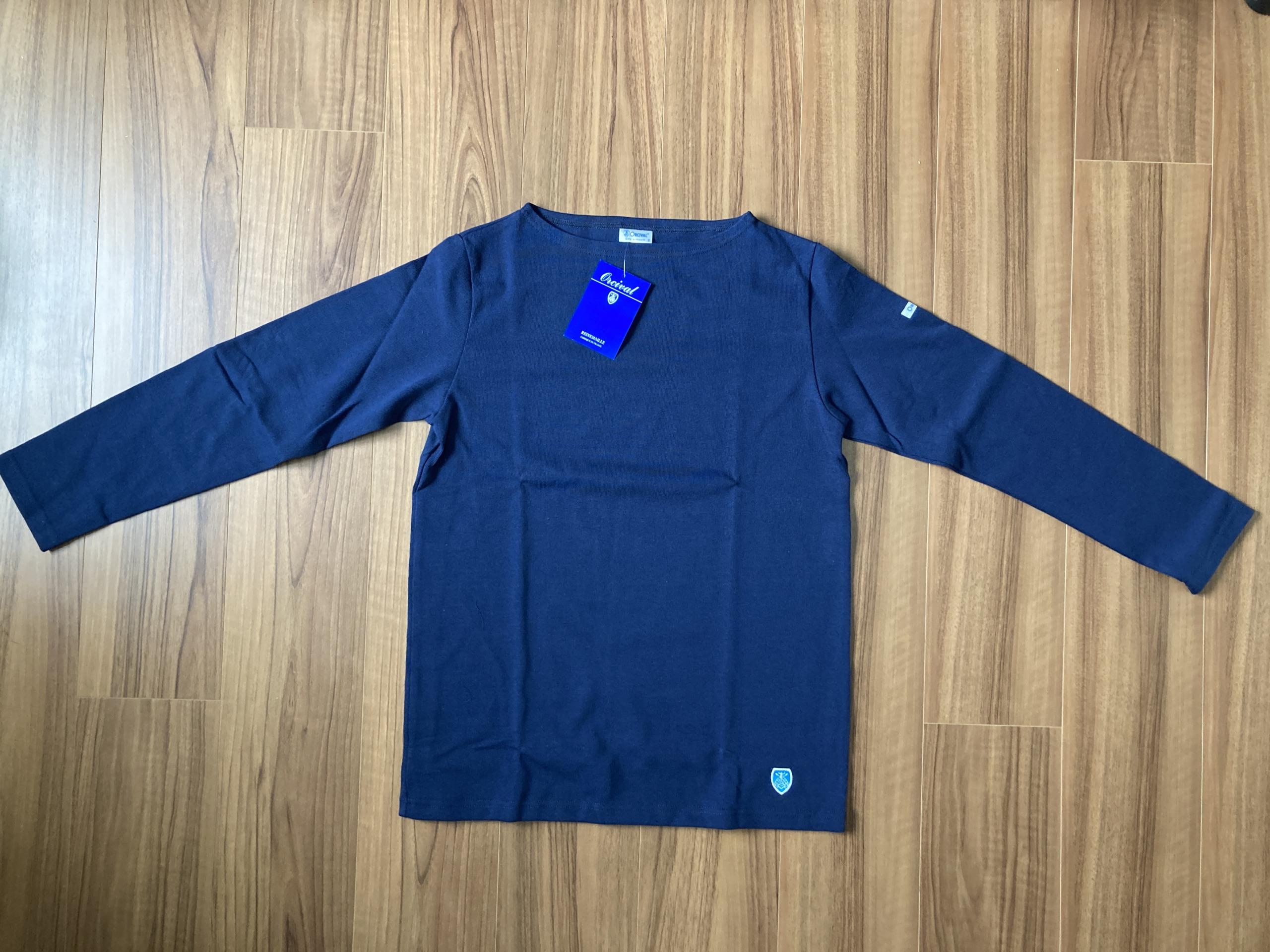 オーシバル Orcival コットンロード バスクシャツ Marine マリン ネイビー 購入当初 全体観