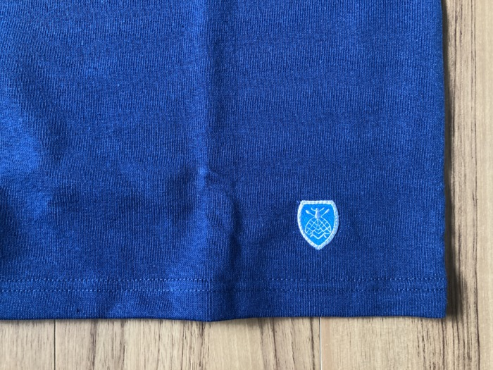 オーシバル Orcival コットンロード バスクシャツ Marine マリン ネイビー 購入当初 エンブレム