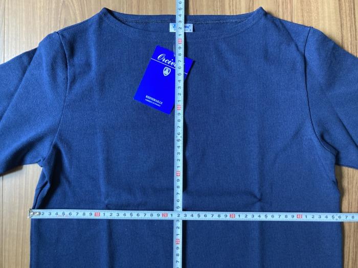 オーシバル Orcival コットンロード バスクシャツ Marine マリン ネイビー 購入当初 サイズ