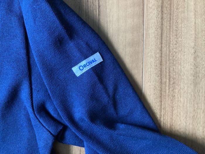 オーシバル Orcival コットンロード バスクシャツ Marine マリン ネイビー 購入当初 ロゴ