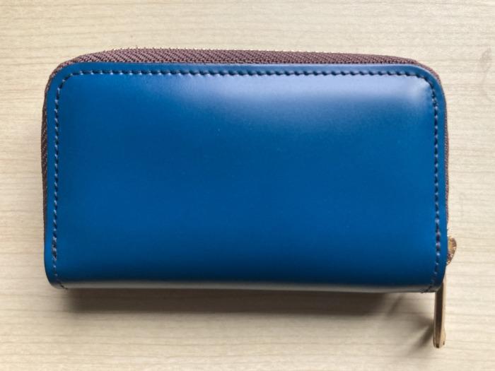 購入当初 新喜皮革 コードバン キーケース ネイビー ブルー 全体観 表