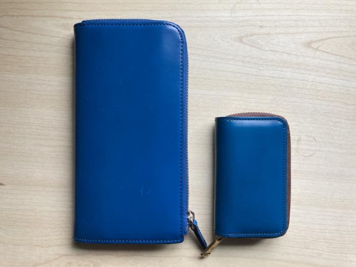 購入当初 新喜皮革 コードバン キーケース ネイビー ブルー 財布