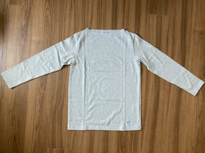 オーシバル Orcival コットンロード バスクシャツ グレー SAKTEDGREY 購入当初 全体観