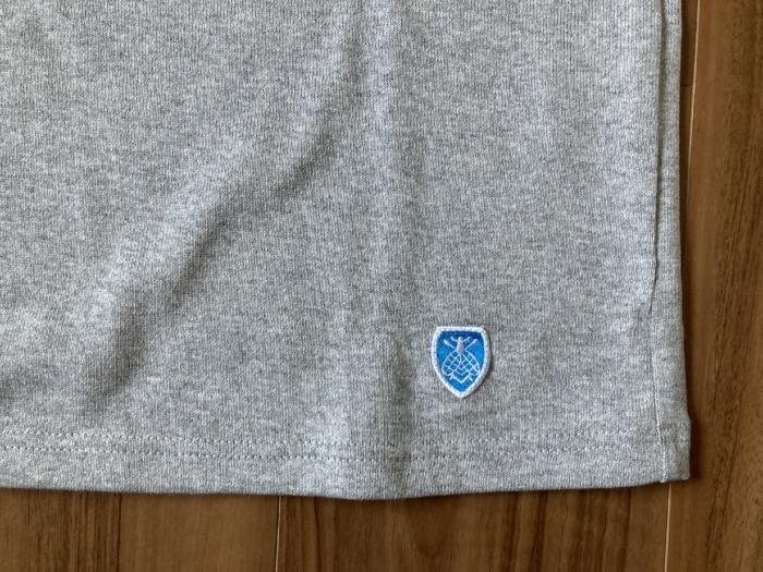 オーシバル Orcival コットンロード バスクシャツ グレー SAKTEDGREY 購入当初 エンブレム