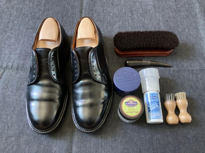 オールデン 9901 Alden 経年変化 エイジング 2回 靴磨き メンテナンス