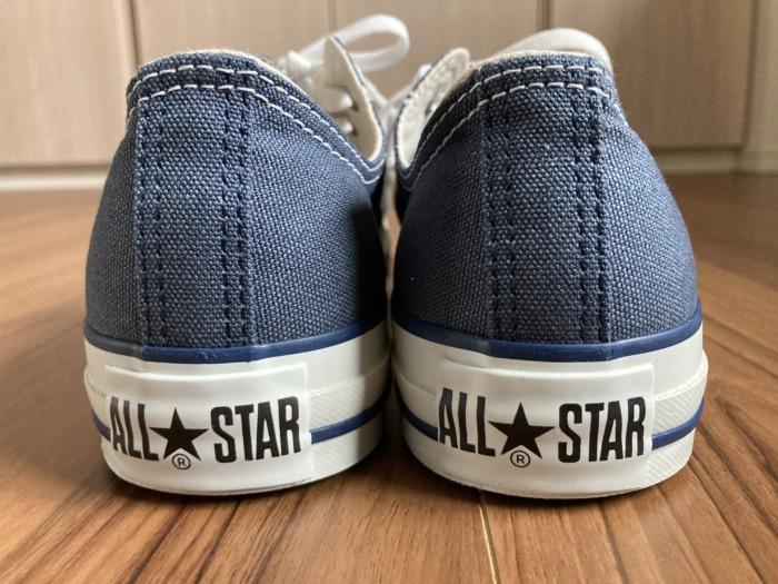 コンバース オールスター Converse Allstar 経年変化 購入当初 踵 ヒール